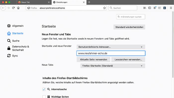 Neufahrner-Echo-als-Startseite-Firefox-3